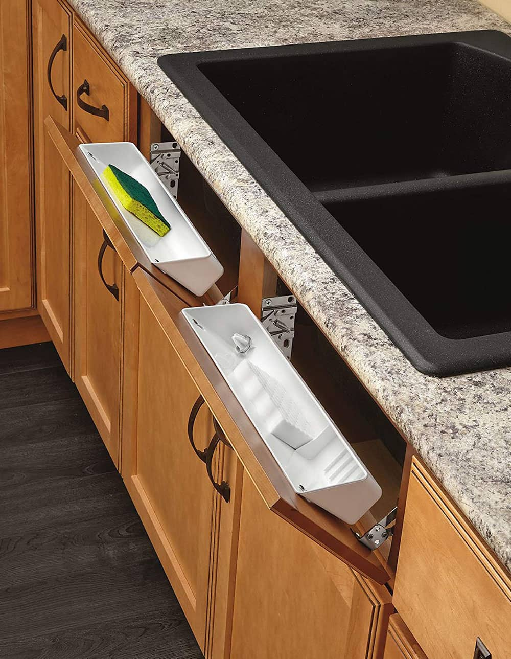 Kitchen tip out trays.