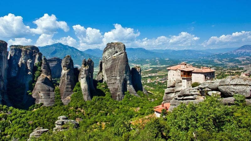 Fantastic architecture of Meteora