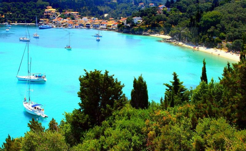 Crystal-clear waters of Paxos Island