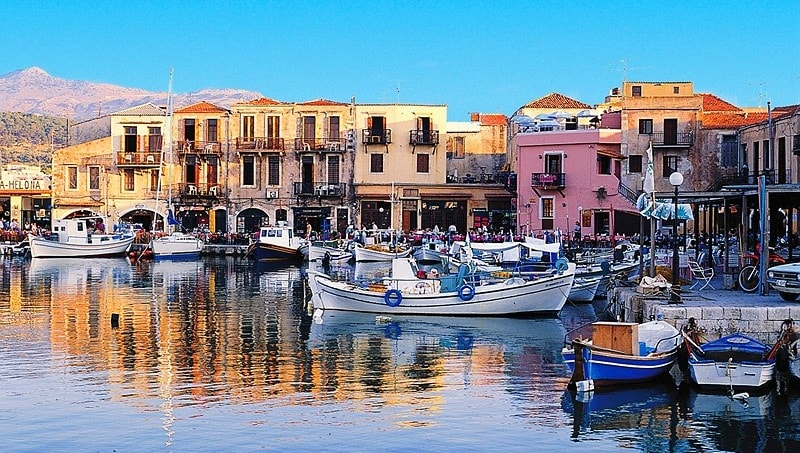 Beautiful harbour of Rethymnon