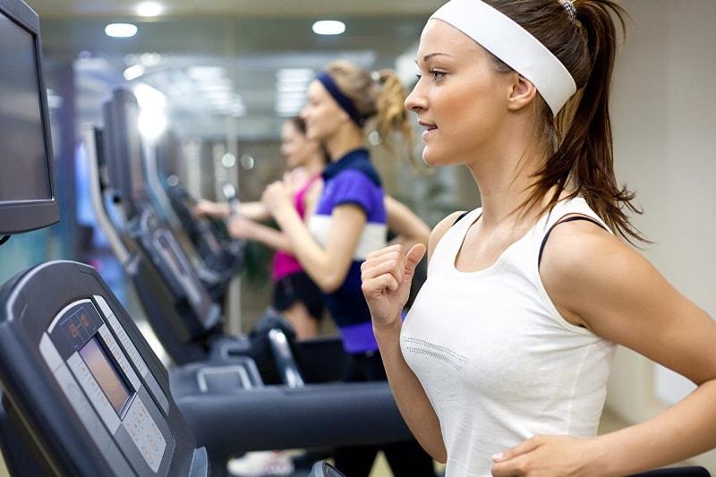 Girl making exercises