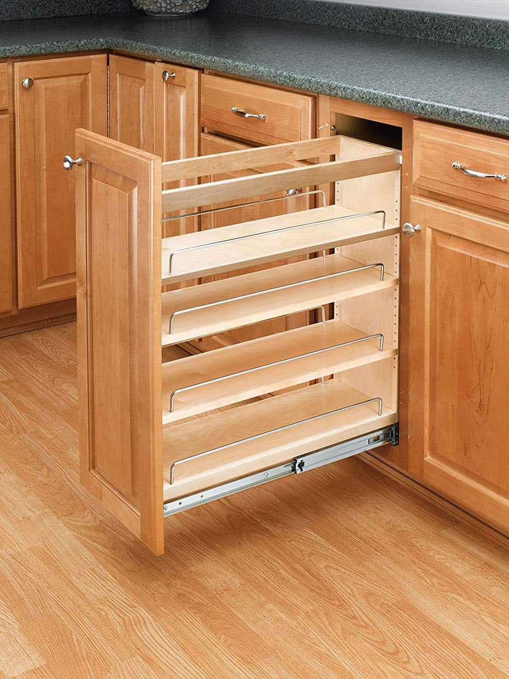 Kitchen base organizers.