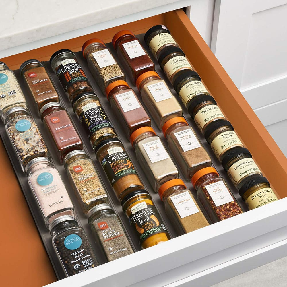 Spice drawer inserts.