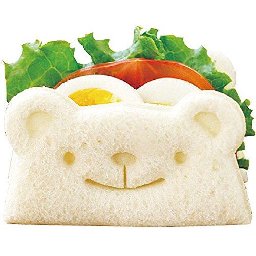 Bear-shaped sandwich.