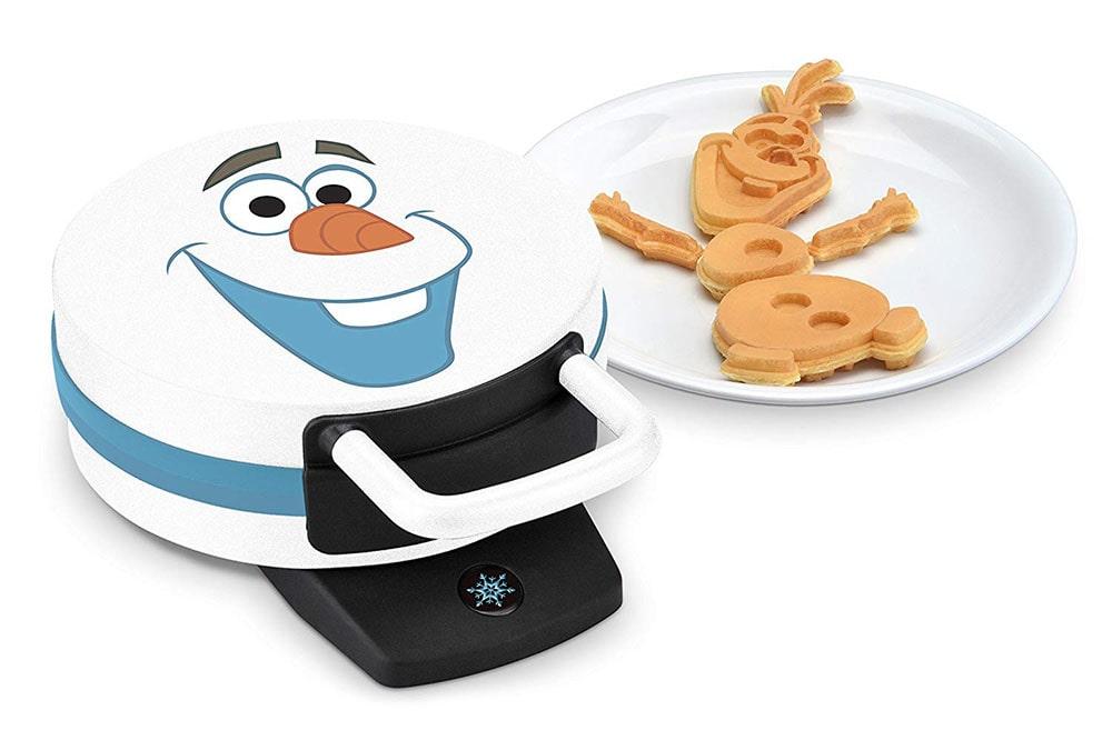 Olaf-shaped waffle maker.
