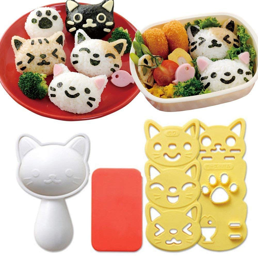 Cat-shaped rice ball molds.