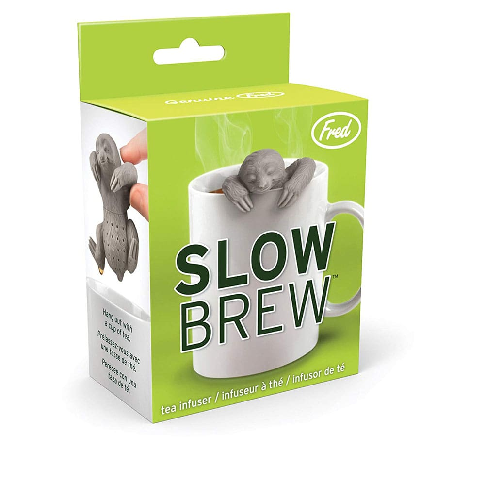 Sloth-shaped tea infuser.