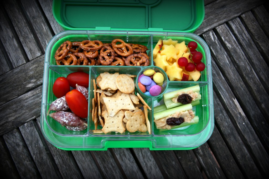 Travel box with snacks